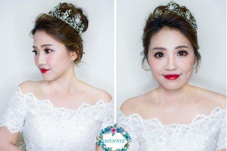 超人氣的韓系新娘造型