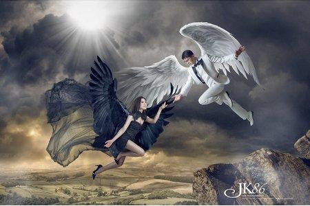 天使與惡魔/婚紗包套/客照分享