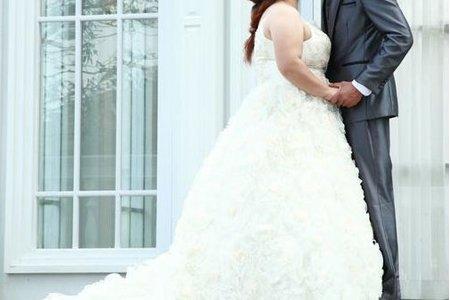 雨文原定婚紗造型