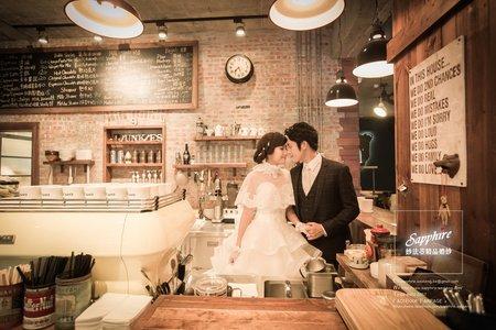 金色戀人-紗法亞Sapphire wedding婚紗相本