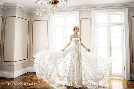 【高級訂製婚紗禮服】法國白紗