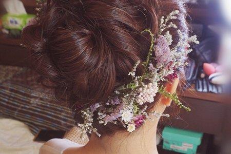 乾燥花。花苞頭