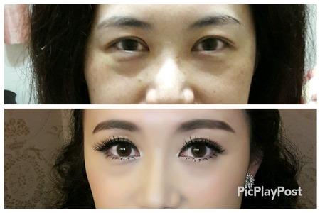 化妝對比照