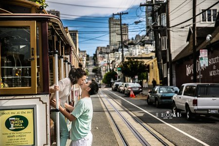 『海外婚紗』Golden Gate Bridge  cable car