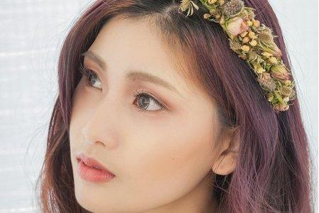 【紫藕雲彩妝容】韓系花圈/輕透裸膚質感/新娘秘書/新娘造型作品
