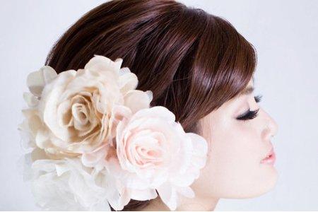 【古典甜美佛朗明哥】新娘造型/深邃大眼妝容/古典低髮髻/新娘秘書
