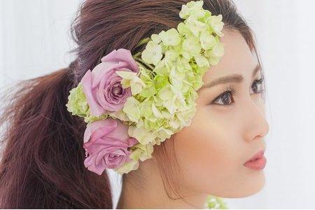 【韓風微光底妝】水潤光澤肌/花卉藝術/鮮花凍齡美妝/新娘秘書