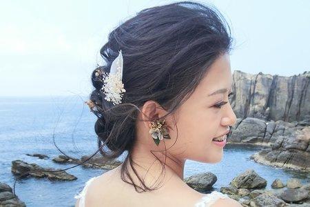 Lillian新秘工作室-俐落公主頭+仙氣盤髮+韓風低馬尾