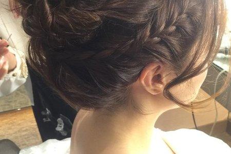 寒色艾美婚禮~就是愛編髮~