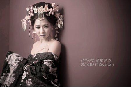 花魁創作新娘造型。子恩AnYa