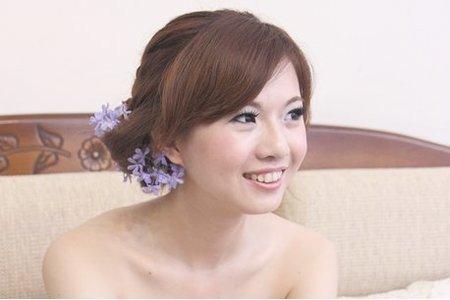 韓系甜美風格鮮花新娘造型