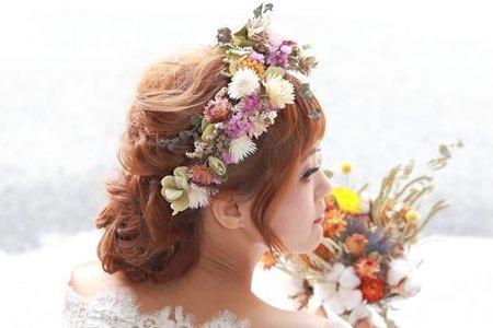 春天清新風格新娘造型