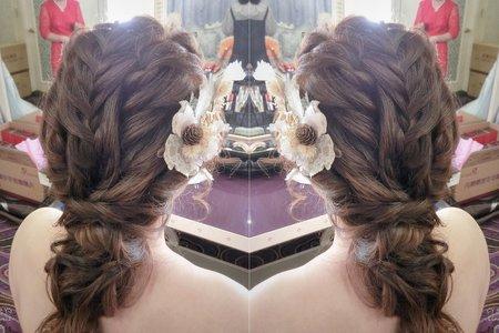 文青風編髮造型
