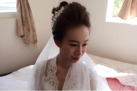 Vivian新娘秘書整體造型-噴槍彩妝-妮妮-2016/12/25-台中林酒店-微微婚紗