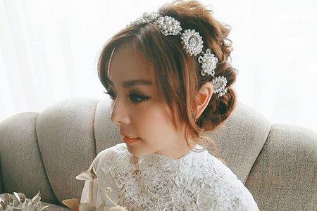 Nico妮可彩妝造型---白紗+蕾絲披肩