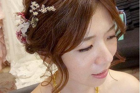 結婚造型(台北 花蓮 全台新秘)翁詩涵造型彩妝工作室