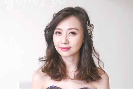 {短髮新娘造型}.short-hair wedding style