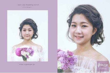 洋娃娃新娘造型.鬆柔編髮與乾淨透亮妝容