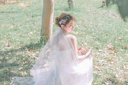 森林系花造型.高雄新秘Gem巧手打造唯美的童話新娘