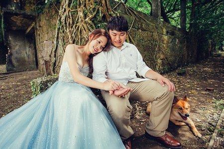 【婚紗】寵物 清新自然 冷調 氣勢大景