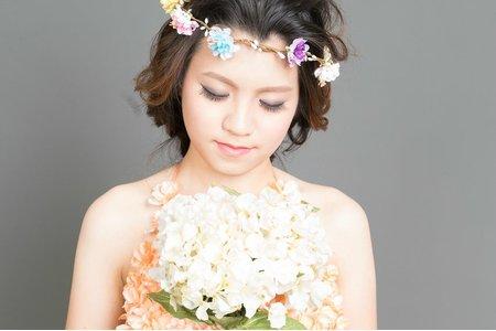 晚禮服造型-仙仙的花條編髮