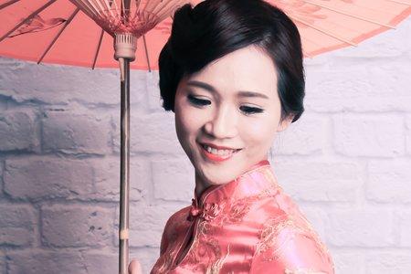 中國風旗袍-推指波髮型