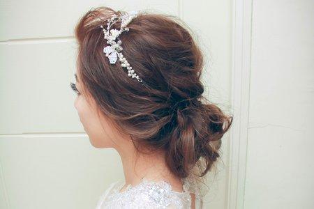 作品-白紗-低盤髮溫柔甜美風