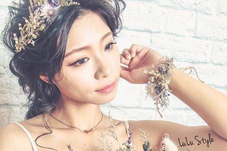 黑髮花仙子韓風造型