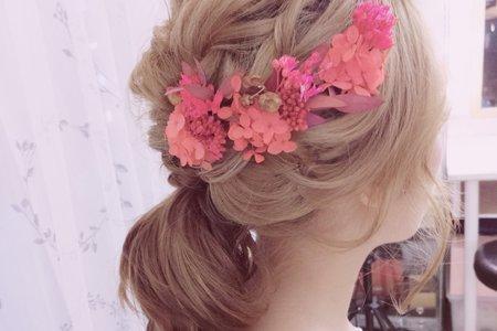 日系 甜美可愛新娘造型