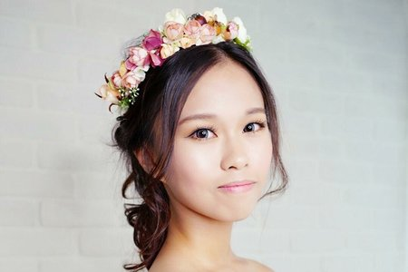 Tifa make up studio~甜美花圈造型🎀,台中新秘