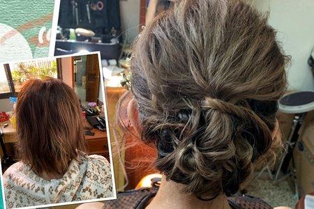 短髮型新娘盤髮文定