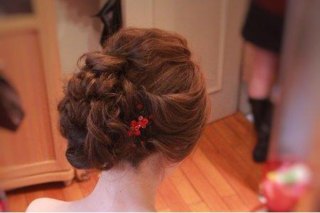 紅色禮服新娘造型
