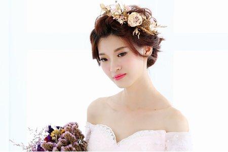 Teresa 新娘秘書-乾燥花飾x白紗造型