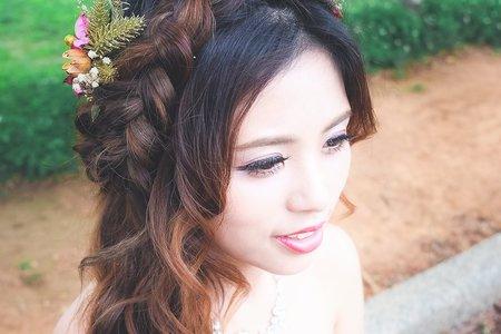 新娘乾燥花頭飾/台中海線新祕曉孜