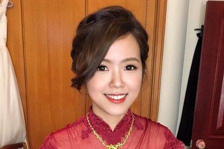 優雅線條盤髮(附新娘推薦文) 🌸米妃Mifie's makeup studio 🌸