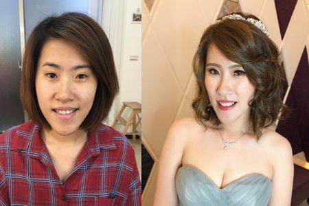 化妝前後小對比 🌸米妃Mifie's makeup studio 🌸
