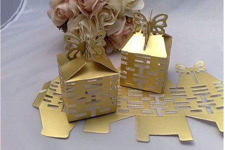 不敗喜糖盒款 縷空囍字糖果盒 包裝盒
