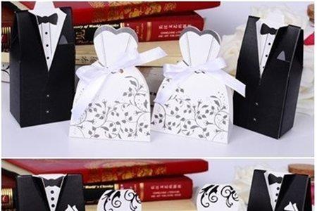 西式新郎新娘糖盒 歐式♥ℓﻉﻻ٥♥喜糖盒