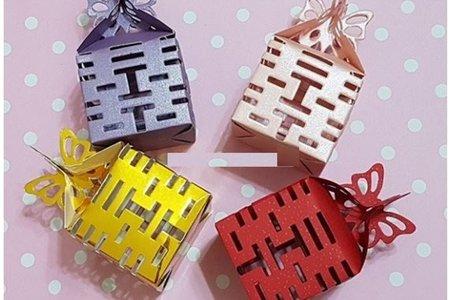 長年不敗款 喜糖盒 四面縷空囍字糖果盒