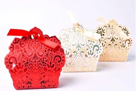 婚禮禮物 中國風 質感雕花紅色糖盒