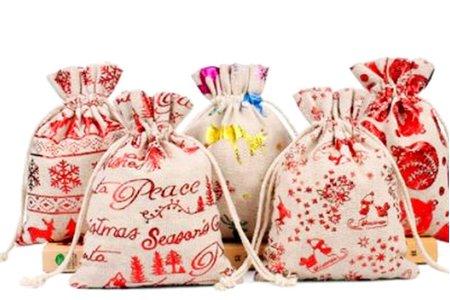燙金系列 棉麻束口袋 旅行收納袋 禮物