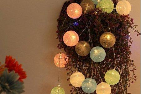 泰國棉線球 藤球燈串 浪漫燈飾