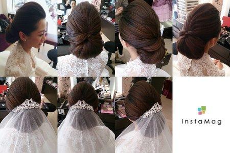 #婚祕多多/Asa stylist      歐美/法式編髮線條⭕全台皆可到府服務新娘整體造型~