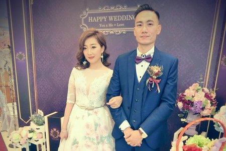 婚禮現場-中長髮的多變造型💕