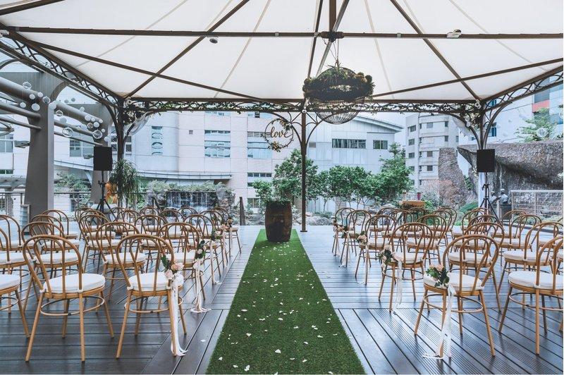豪鼎飯店婚宴會館中興館戶外證婚3