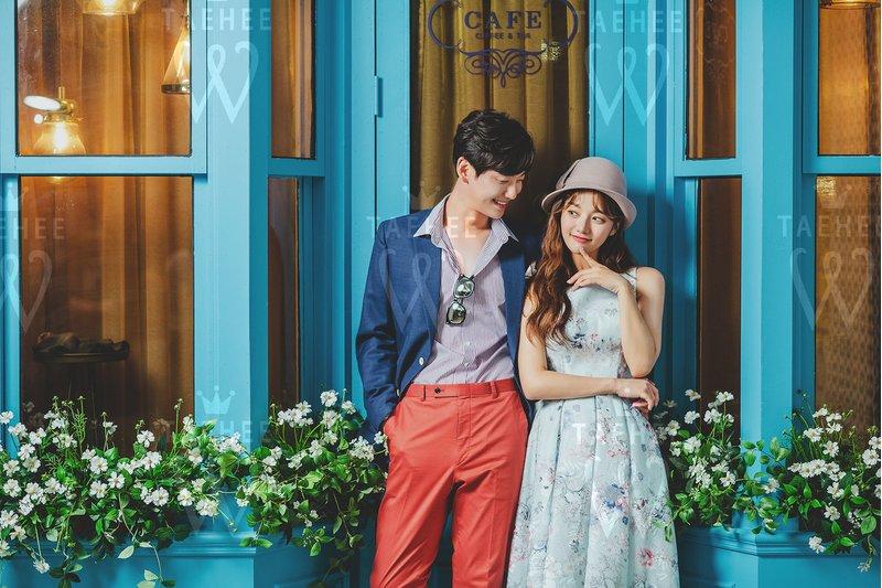 韓風婚紗照,即便沒有穿上白紗西裝,仍非常時尚搶眼