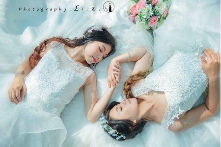 小資女孩閨蜜婚紗套裝 | 白紗外拍體驗組