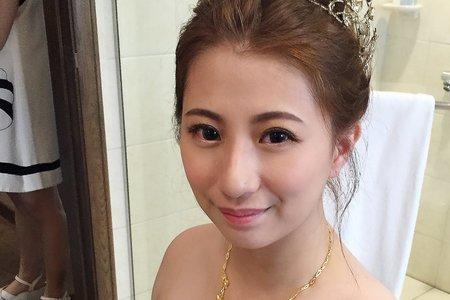 |婚禮造型|好媳婦低盤髮+名媛送客造型