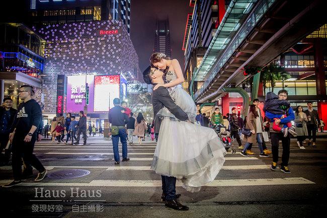 市區夜景│拍婚紗