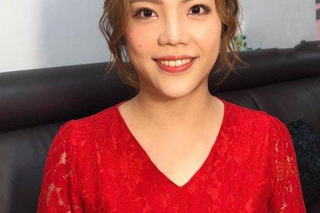妍瑾訂婚妝髮